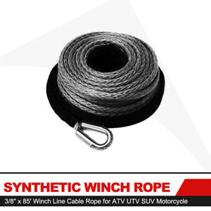 Synthetic Winch Rope 85ft Winch Line Cable Rope For Atv Utv Suv Motorcycle