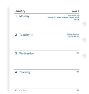 2022 Filofax Personal Week On One Page Diary calendar 68426