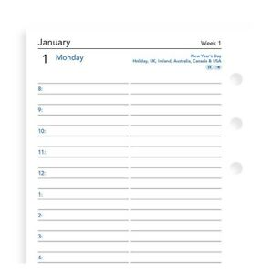 2022 Filofax Personal One Day On A Page Diary With Appointments 68441