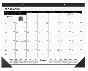 2022 At A Glance Sk2400 Monthly Desk Pad Calendar 22 X 17 January To December