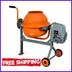Concrete Mixer Compact Portable Electric Rugged Low Profile Height 1 6 Cu Ft