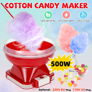 Electric Mini Cotton Candy Machine W sugar Scoop Red Floss Carnival Maker Party