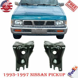 Set Of 2 Front Bumper Mounting Brackets For 1993 1997 Nissan Pickup D21 2wd