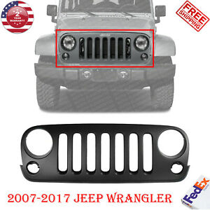 New Grille Assembly For 2007 2017 Jeep Wrangler Jk 68046306ac