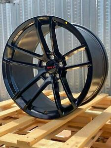 4 Gloss Black Dodge Rims 20x95 20x11 Staggered Challenger Charger Scat Redeye