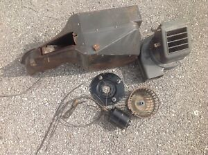 1955 Chevy Belair Deluxe Heater Box With Fan And Motor Housing