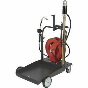 Ironton Air operated 5 1 Oil Pump Kit With Cart And Hose Reel 3 7 Gpm