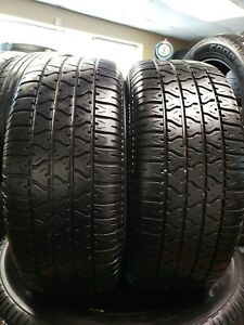Set Of 2 Used 255 60 15 102t Viper Tr Radial Gt M S High Thread