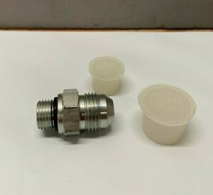 Parker Straight Male Sae jic 37 8 To Male Orb 6 Fitting Zinc Platted Steel