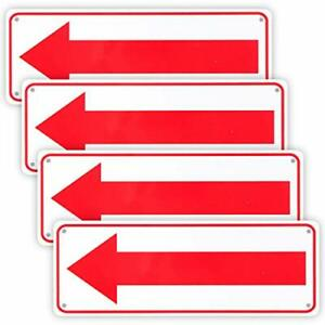 4 pack Arrow Sign for Indoor Or Outdoor Use 10 x 3 5 04 Aluminum Reflective