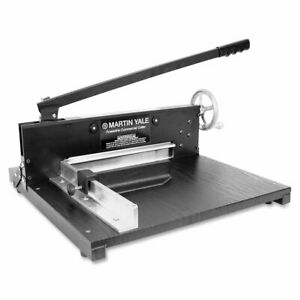 Martin Yale 7000e Paper Cutter Commercial 200 sheet Stack 12 Cutting Length