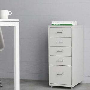 Ikayaa Mobile Detachable Metal Filing Storage Cabinet For Office Bedroom O8d7