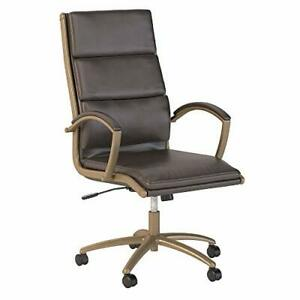 Modelo High Back Leather Executive Office Chair In Brown With Brown Leather