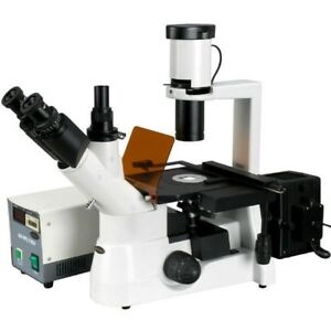 Amscope 40x 400x Plan Phase Contrast Culture Fluorescent Inverted Microscope