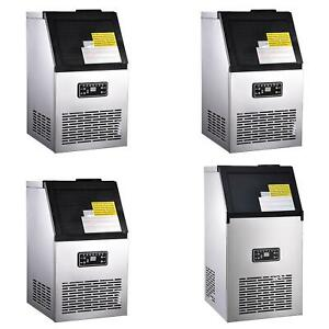 Built in Commercial Ice Maker Undercounter Stainless Steel Ice Cube Machine