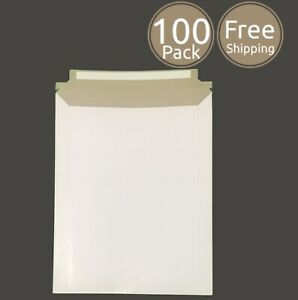 100 Pack 9 X 11 Inches Photo Document White Rigid Cardboard Mailers Envelopes