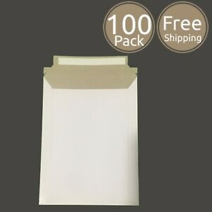 100 Pack 6 X 8 Inches Photo Document White Rigid Cardboard Mailers Envelopes