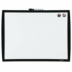 Magnetic Whiteboard Dry Erase White Board With Black Frame For Writing Drawing