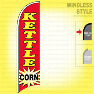 Kettle Corn Windless Swooper Flag 2x11 5 Ft Feather Banner Sign Rb