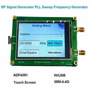 Adf4351 35m 4 4g Rf Signal Generator Pll Sweep Frequency Touch Screen Board Gt