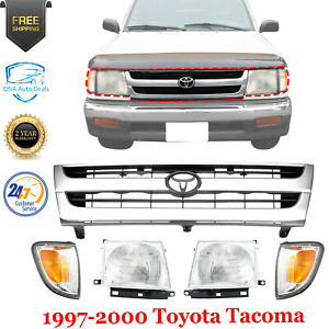 5 Pcs Grille Assembly Head Lights Side Marker For 1997 2000 Toyota Tacoma