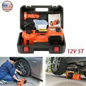 Electric Hydraulic Floor Jack Car Jack Lift 5 Ton 12v Electric Impact Wrench