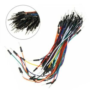 Cable Wires Bread Breadboard For Arduino 65pcs Flexible Jumper 65x Lots 65 set