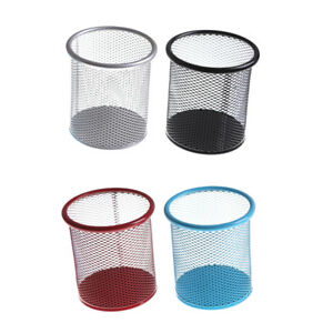 Mesh Metal Pencil Organizer Storage Office Desk Pen Holder Containers Bdyhy C
