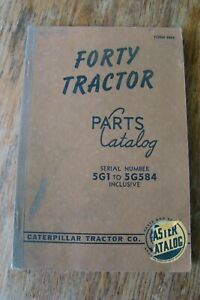 Caterpillar Forty Tractor Parts Catalog