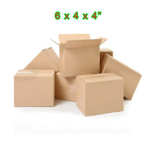 100 6x4x4 Shipping Packing Mailing Moving Boxes Corrugated Carton