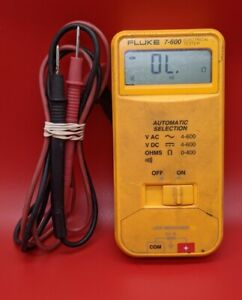 Fluke 7 600 Electrical Tester Meter W Leads Refurbished Great Condition