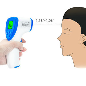 Baby Adult Digital Thermometer Infrared Forehead Non touch Body Temperature Gun