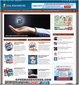 Social Media Marketing Niche Website Ready For Multiple Income Streams