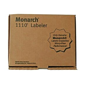 Monarch 1110 Price Gun New In Box With Manual Gray