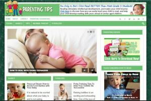 Business Opportunity Parenting Ready Made Niche Blog Website For Sale