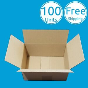 100 Pack 6 X 4 X 2 Inch Corrugated Carton Cardboard Paper Mailing Packing Boxes