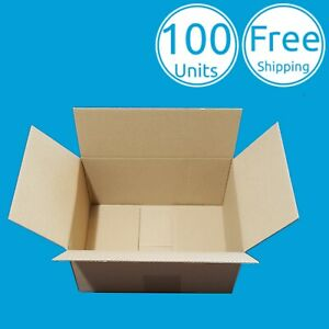 100 Pack 6 X 4 X 4 Inch Corrugated Carton Cardboard Paper Shipping Mailing Boxes