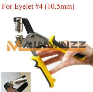 New Hand Press Grommet Punching Machine Tool For Eyelet 4 10 5mm Hole Puncher