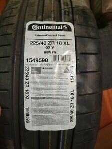 Continental Extremecontact Sport 225 40zr18xl 1549598