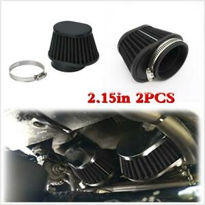 2pcs 2 15in Air Filter Universal Fit For Racing Car Cold Air Intake High Flow