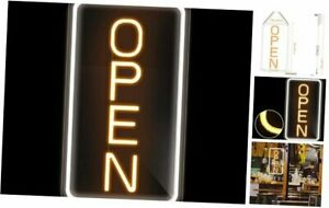 16 x 9 Led Neon Open Sign For Business Ultra Bright Lighted Sign Vertical