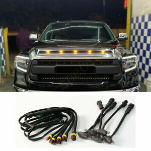 5pcs For Toyota Tundra 2008 2020 Front Grille Led Light Raptor Style Grill Trim