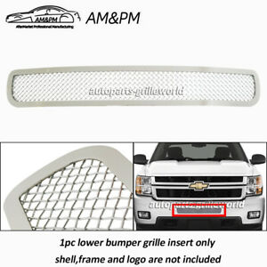 For 2011 2014 Chevy Silverado 2500hd 3500hd Stainless Bumper Mesh Grille Grill
