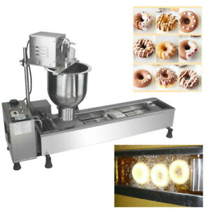 Uesd 110v Commercial Automatic Donut Maker Making Machine With Wide Oil Tank