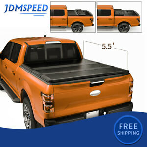 5 5ft 3 Fold Tonneau Cover Hard Truck Bed Pickup For 2015 2021 Ford F150 F 150
