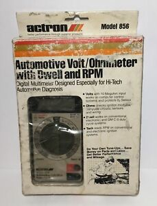 Actron Multimeter Automotive Volt ohmmeter With Dwell And Rpm Model 856 Manual