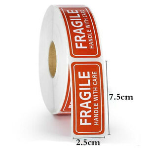 150pcs Per Roll 1 X 3 Fragile Handle With Care Packing Stickers Labels