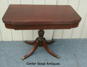 62300 Antique Mahogany Flip Top Game Table Stand