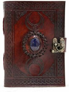 Handmade 3 Moon Brown Lapiz Leather Journal 7 X 5 Notebook Writing Unlined Diary