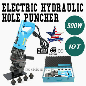 900w Electric Hydraulic Hole Knockout Punch Puncher Mhp 20 With 5 Metal Die Set